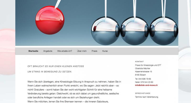 Click and move, Praxis für Kinesiologie